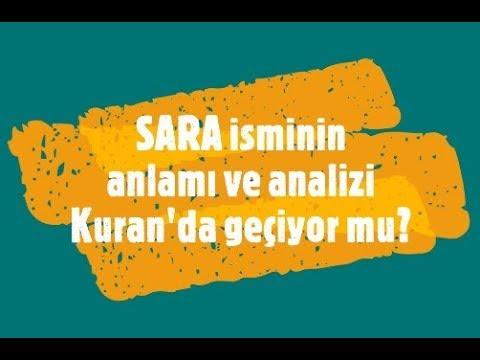 SARA İsminin Anlamı ve Analizi Nedir?