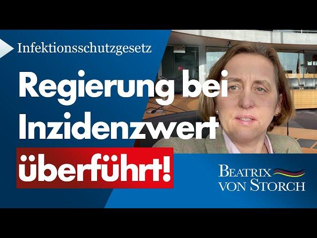Beatrix von Storch (AfD) - 100er-Inzidenzwert ist reine Willkür!