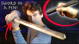 Make Riptide (Expandable Pen Sword) From Percy Jackson! - Full Metal, Low Cost Build