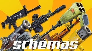 Fortnite weapons schemes save the legendary world 130 full afix ps4/pc/xbox/switch 720p