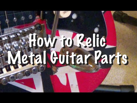 how to relic metal guitar parts for that well used and abused look youtube. Black Bedroom Furniture Sets. Home Design Ideas
