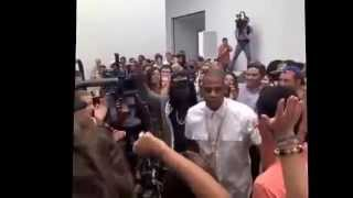 Jay Z Picasso Baby at the Pace Gallery in New York City