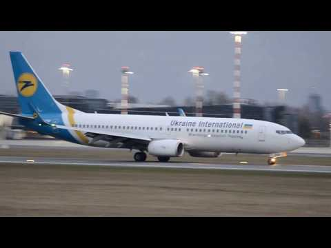 Ukraine international landing in Riga international airport