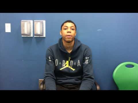 Detroit East English Village senior Greg Elliott talks about being a Mr. Basketball finalist