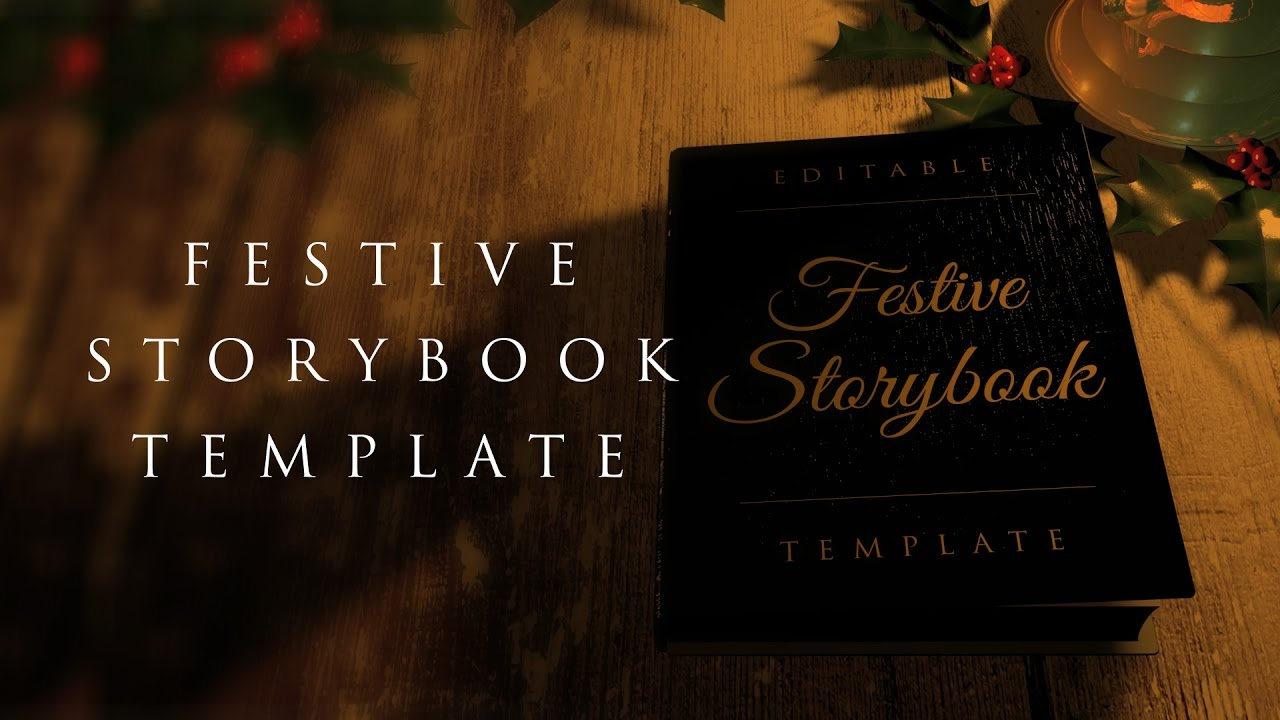 Festive Storybook Opening – After Effects Template - YouTube