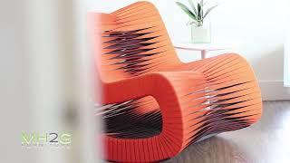 Interior Design Ideas For a Modern Home - Seatbealt Chair by Designer Nuttapong