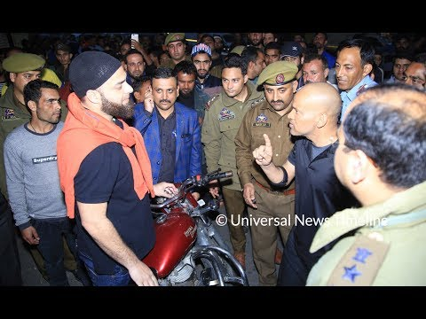 Traffic IGP Basant Rath at GMC Jammu to clear illegally parked vehicles   UNT
