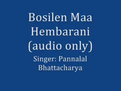 Bhakti geeti - Bosilen Maa Hembarani - Pannalal Bhattacharya - thumbnail