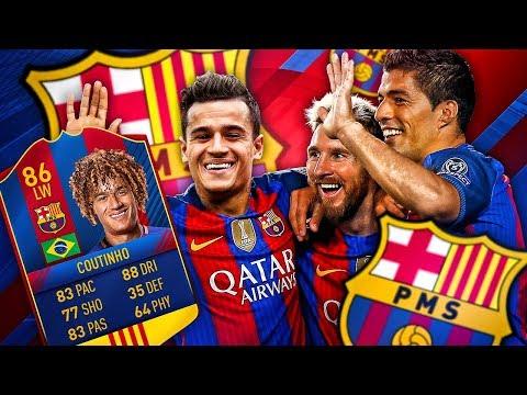 INTRODUCING PMS! PHIL MESSI SUAREZ! THE BARCELONA COUTINHO TRANSFER SQUAD! FIFA 17