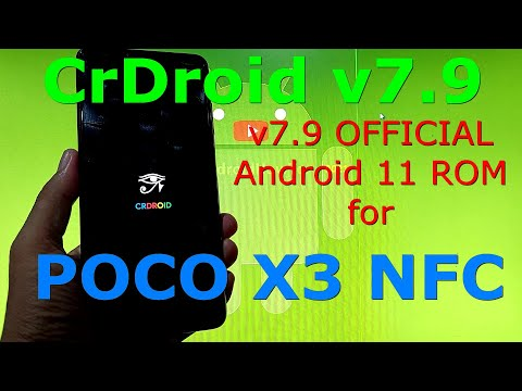 CrDroid v7.9 OFFICIAL for Poco X3 NFC Android 11