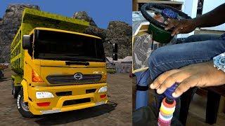 ETS2 1.30| BARATHBENZ Torres| at PWD work in |SUMATHRA map|HINO  truck mod|steering wheel|gear