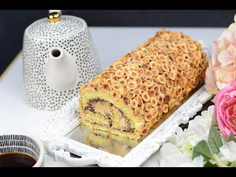 ڤاتو-رولاي-بالشكلاطة-والبفريوة-(البندق)--gâteau-roulé-au-noisette-&-chocolat