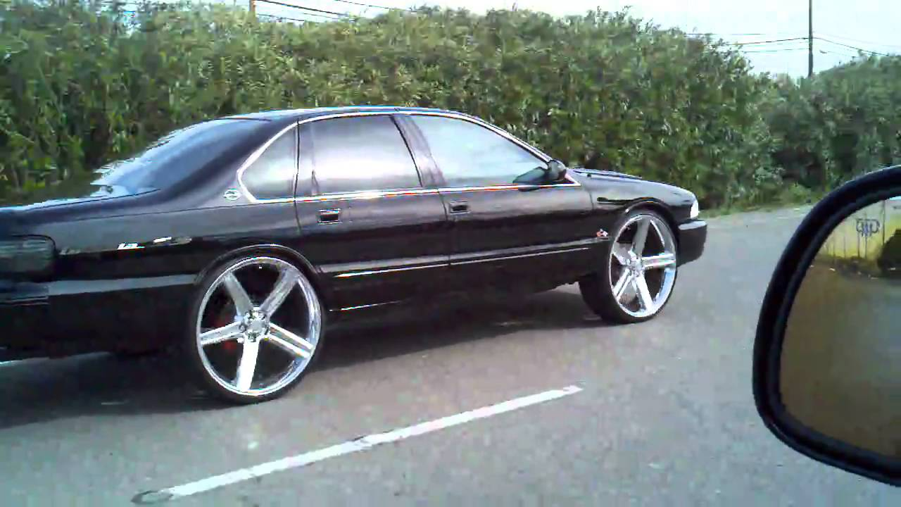 96 Impala Ss On 26 S Iroc S In Motion Youtube