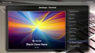Black Glass Nova skin for Kodi 15.x: Installation and showcase