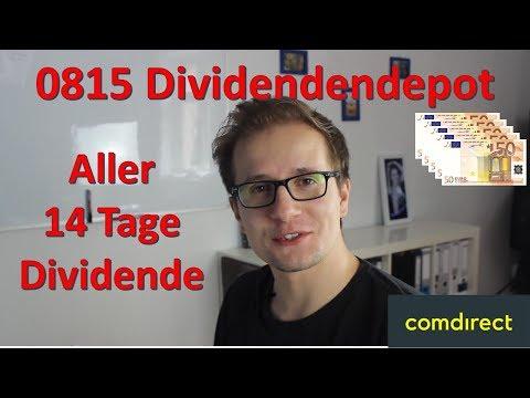 Aller 14 Tage Dividende - Dividendenstrategiedepot - Für 250€/Monat Dividendenaktien kaufen