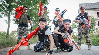 LTT Nerf War : SEAL X Warriors Nerf Guns Skill Sniper Fight Criminal Group Bandits Armed