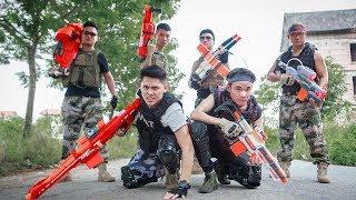 LTT Nerf War : SEAL X Warriors Nerf Guns Skill Sniper Fight Criminal Group Bandits Armed
