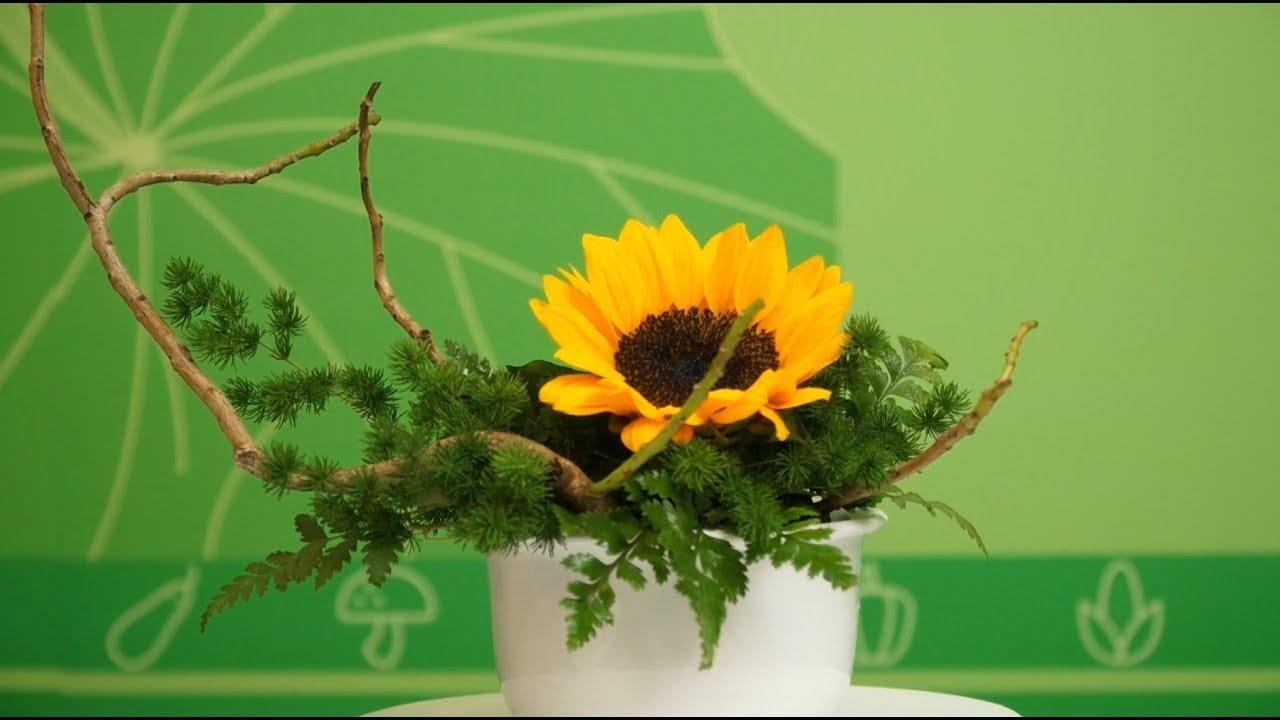 Hướng Dẫn cắm Hoa Nghệ Thuật chỉ với 1 Hoa Hướng Dương