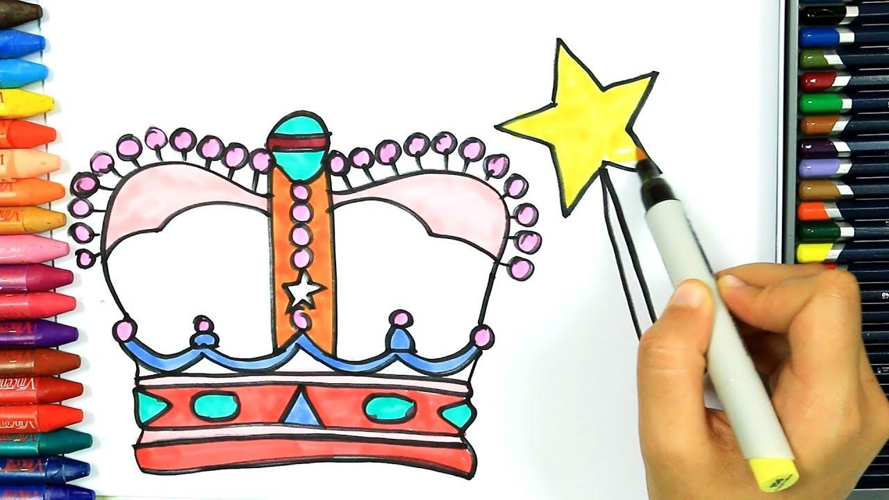 Prenses Tacı Nasıl çizilir Boya Boya çizelim Boyayalım