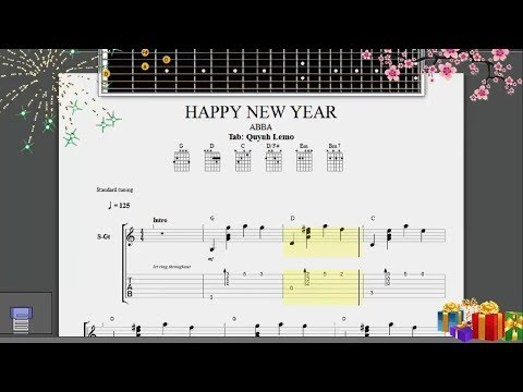 Happy New Year (ABBA)   Guitar Fingerstyle (Full Tab)