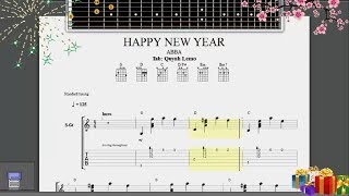 Happy New Year (ABBA) | Guitar Fingerstyle (Full Tab)