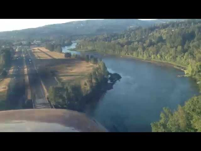 2012 Flight to the Pacific Northwest -- flying into Woodland, WA