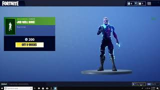 "Fortnite/ nBKg shows off the ""Job well done"" emote (Galaxy skin) 