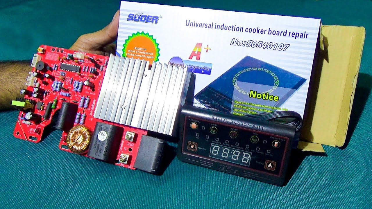 Unboxing And Basic Review Of An Induction Cooker Circuit Pcb Blue Board Label Tutorial Videos