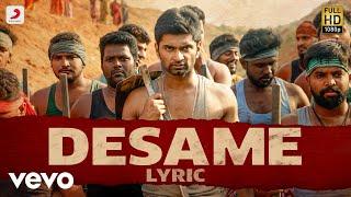 Boomerang Desame Tamil Lyric Atharvaa Mega Akash Radhan