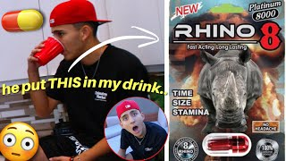 HE PUT THIS PILL IN MY DRINK..*PRANK GONE WRONG*