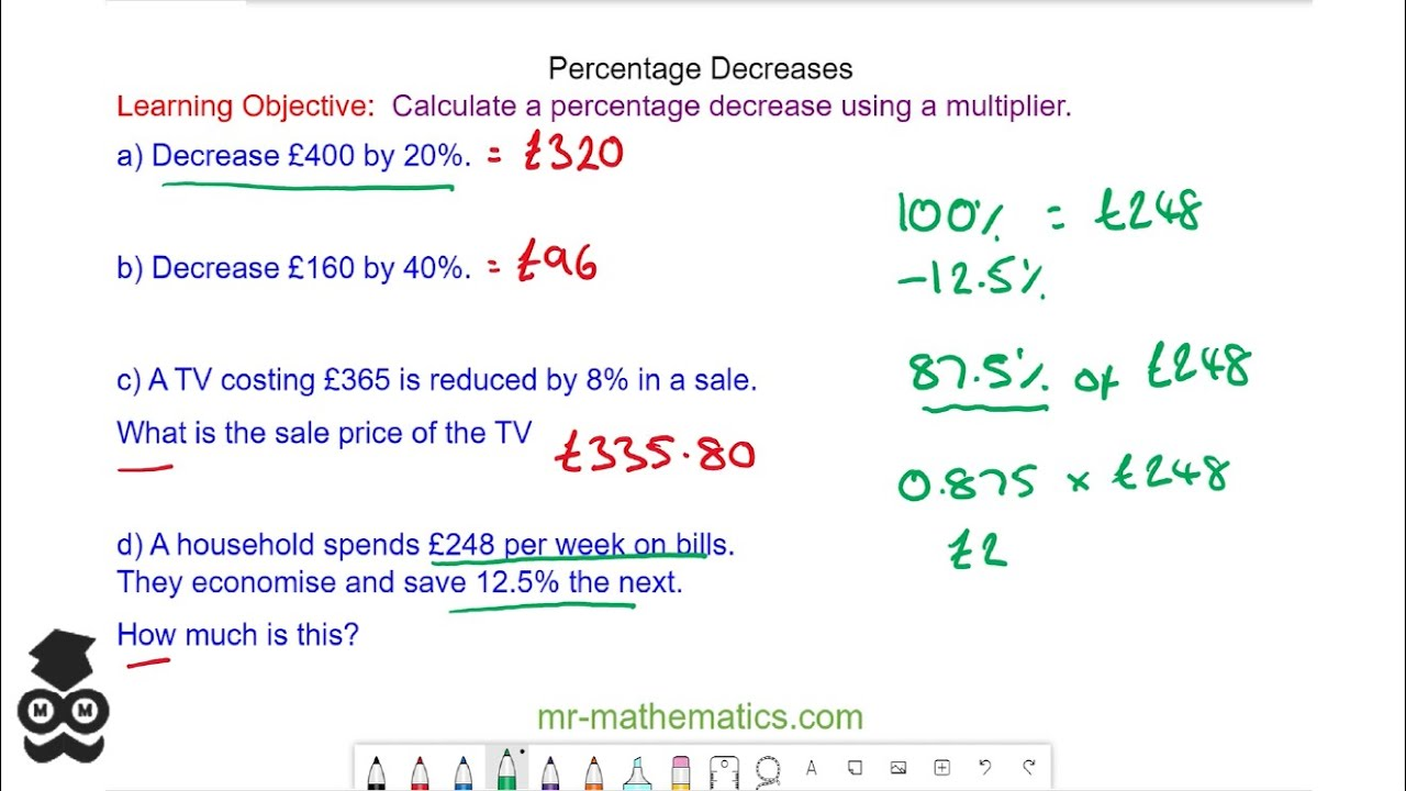 Calculating a Percentage Decrease