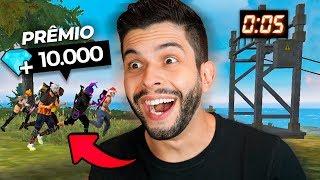 VALENDO 10K!! O ÚLTIMO A SUBIR NA TIROLESA PERDE!! FREE FIRE