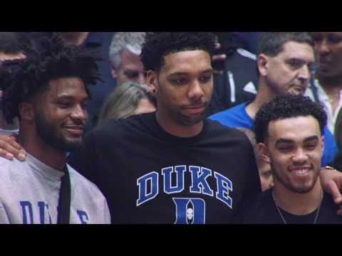 DBP: Jones, Okafor and Winslow with Jefferson after the Wake Forest win