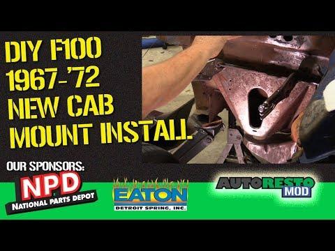 Bumpside F100 1967 1972 Cab mount install tips and tricks Autorestomod  Episode 379