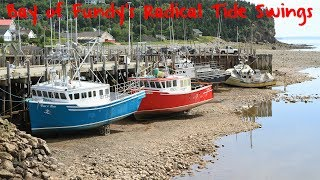 Bay of Fundy Tide Changes in Alma, New Brunswick