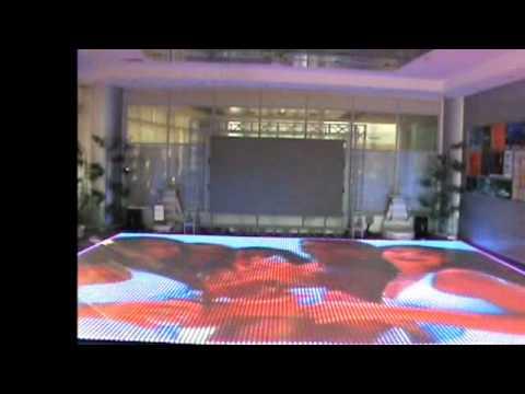 MC LED SCHERMO LED RGB A PAVIMENTO - YouTube