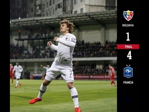 MOLDAVIA vs FRANCIA (1-4) | Resumen Completo 2019 | Goles