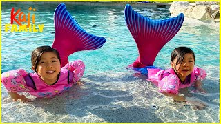 Twins Mermaid Challenge with Emma and Kate!