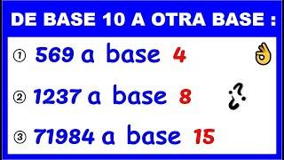 Convertir de base 10 a cualquier base