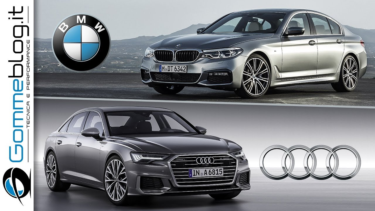 audi a6 2019 vs bmw 5 series 2018 interior and exterior car comparison youtube. Black Bedroom Furniture Sets. Home Design Ideas
