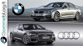 AUDI A6 (2019) vs BMW 5-Series (2018) - INTERIOR and EXTERIOR Car Comparison