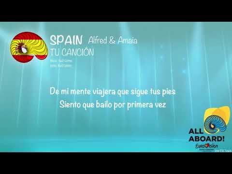 Amaia y Alfred - Tu canción (Spain) [Karaoke Version]