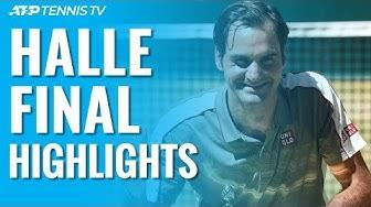 Federer Defeats Goffin For 10th Halle Title! | Halle 2019 Final Highlights