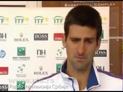 Novak Djokovic Crying Because Of His Injury