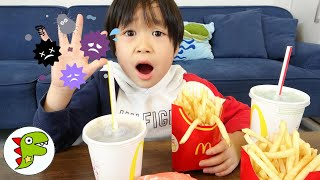 レオくんのマクドナルド食べたのだれ?手を洗ってからたべようね! トイキッズ