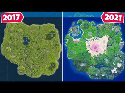 Evolution of The Entire Fortnite Map! (September 2017 - February 2021) |
