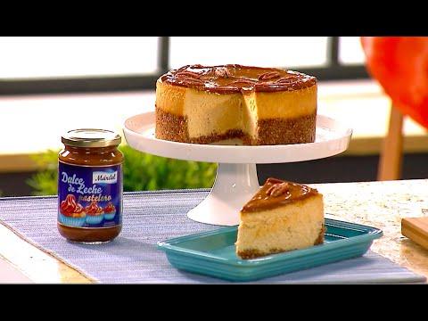 Cheesecake con dulce de leche | Con Alma Obregón - YouTube