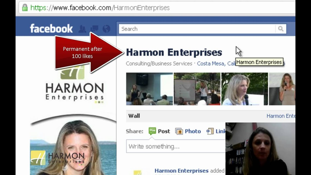 how to change page name on facebook youtube