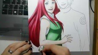 Speed Drawing - Minato and Kushina (Naruto)