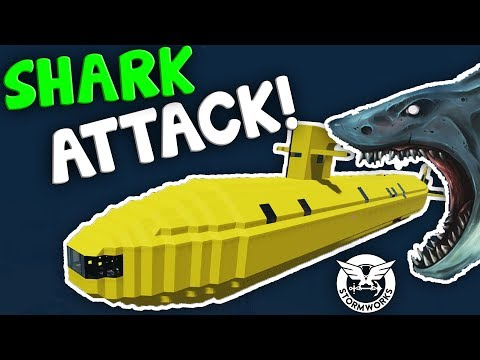 SHARKS + YELLOW SUBMARINE!  -  Stormworks: Build And Rescue  -  Multiplayer